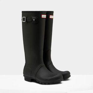 💲 HUNTER Huntress Black Tall Rain Boots Wellies 8
